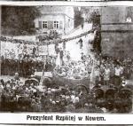 Prezydent Mościcki w Nowem, plac targowy, sierpień 1927.jpg