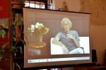 Spotkanie  wczoraj  przez  skypa  na  żywo w  bilbliotece  w  Zamku z  aktorem Jerzym Kryszakiem....