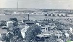 Widok  z  wieży ciśnień,.. budowa  Fabryki Mebli....
