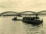 Przewóz koni przez Wisłę, most w  Grudziądzu, lata wojenne - spica