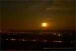 Wschód księżyca nad Wisłą.